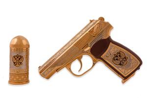 Пистолет пневматический с рюмкой-пулей