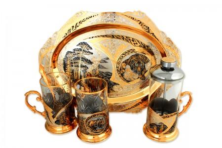 Чайный сервиз, набор на две персоны «Тайга».