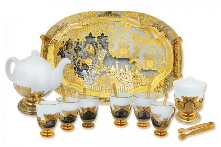 Чайный сервиз, набор на шесть персон «Рыцари».