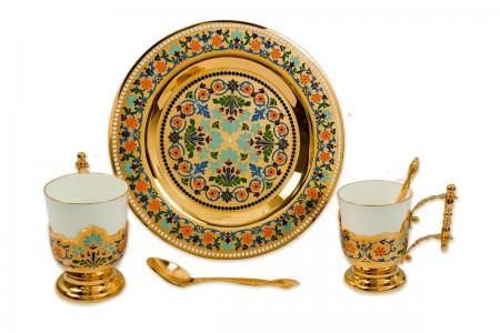 Набор чайный на две персоны с блюдом