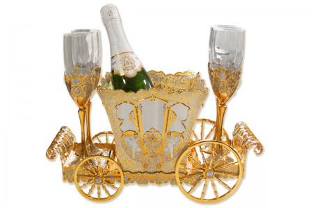 Подарочный набор, сервиз для шампанского «Карета».